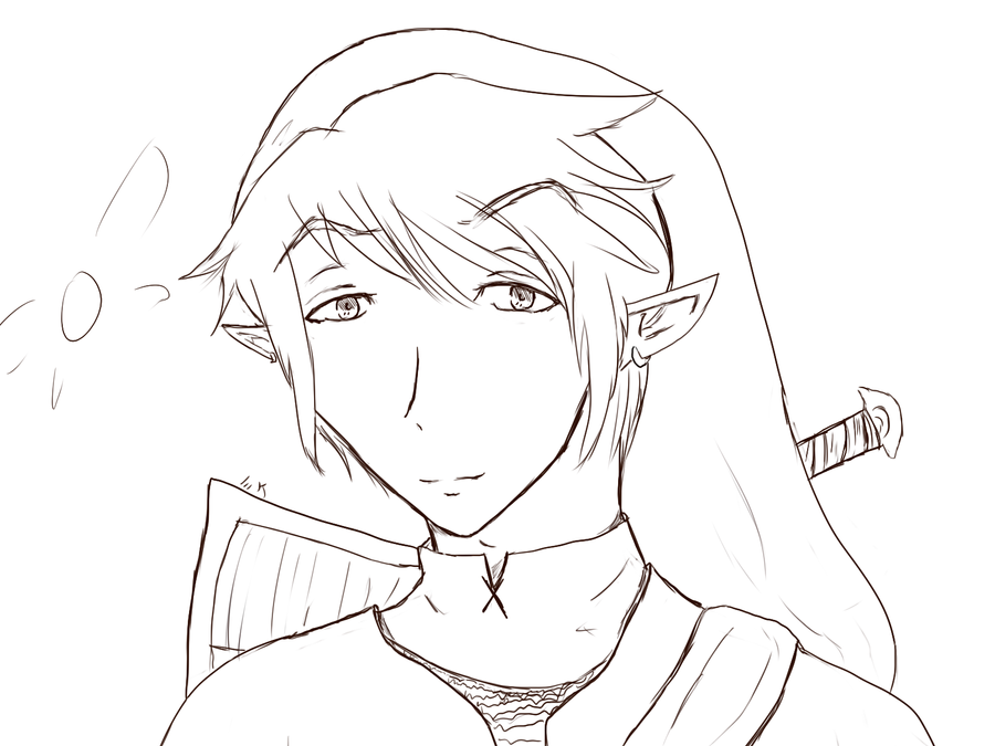 Line Art Zelda : Legend of zelda link line art by mikaalamode on deviantart