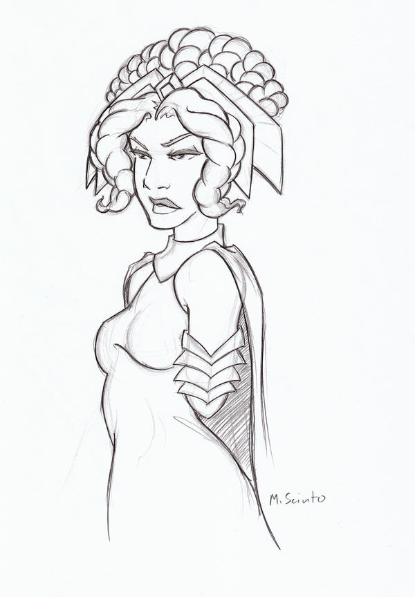 Tenel Ka Sketch by msciuto