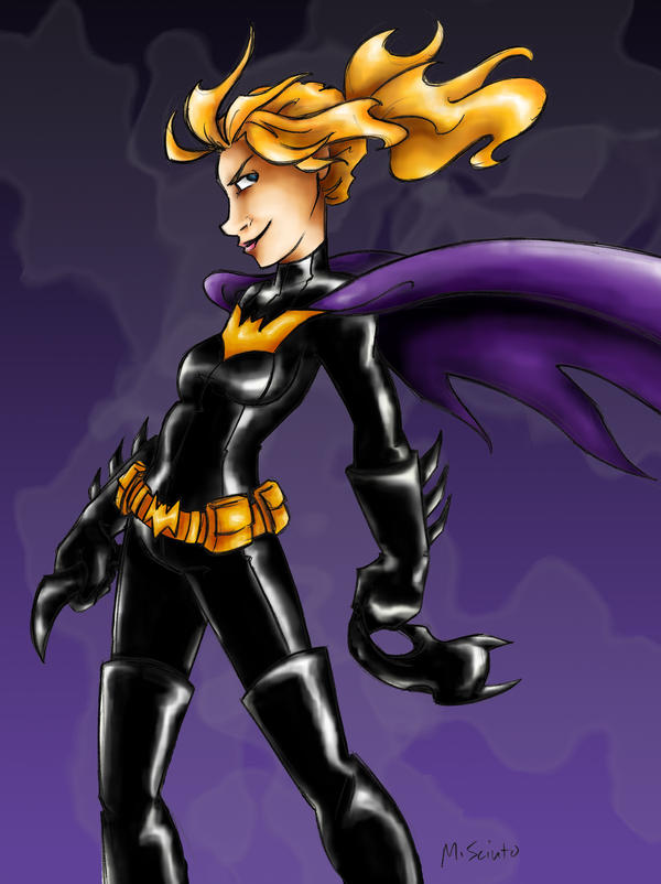 Steph Brown as Batgirl Colored by msciuto