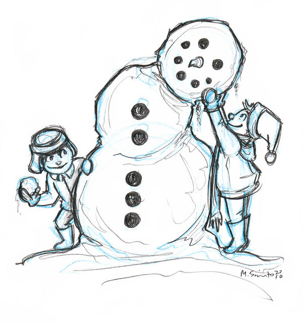 Snowman Sketch By Msciuto On DeviantArt