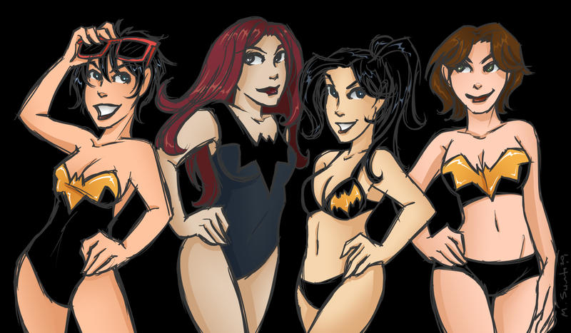 Batgirl Swimsuits