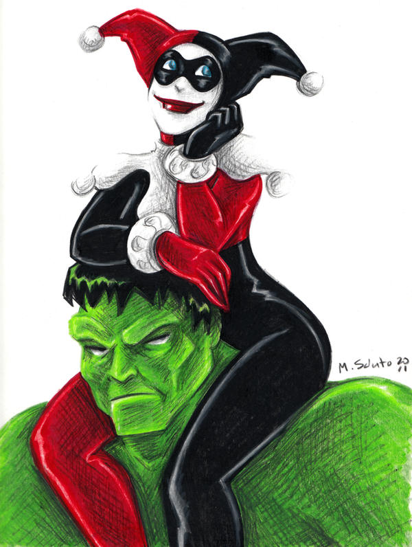 Hulk and Harley by msciuto