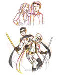 YJ Steph and Tim Sketches