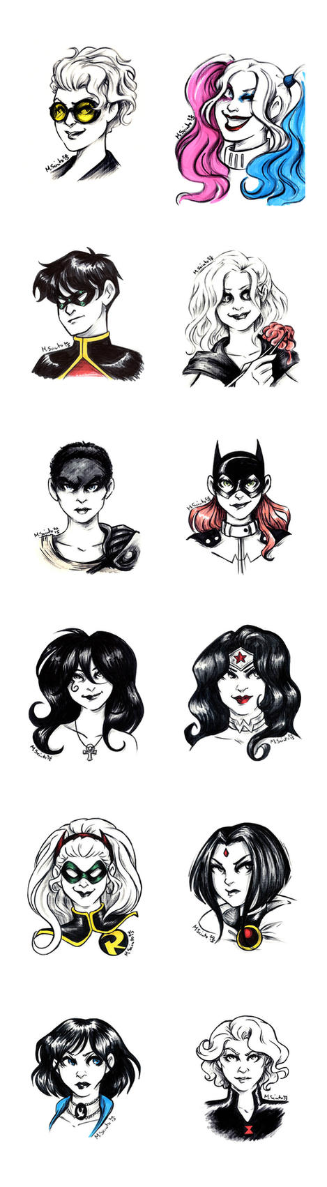 Ink Sketches by msciuto