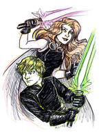 Luke and Mara by msciuto