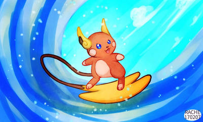 Raichu Used Surf! by Rachiello