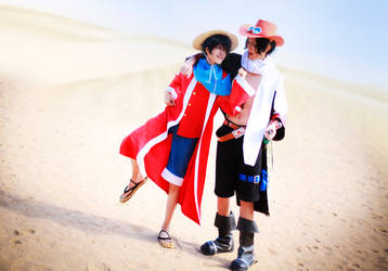 one piece_luffy and ace