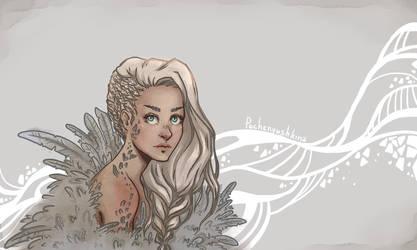 The girl-bird by Pechenyushkina