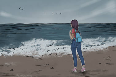 The sea by Pechenyushkina