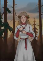 Slavic girl by Pechenyushkina
