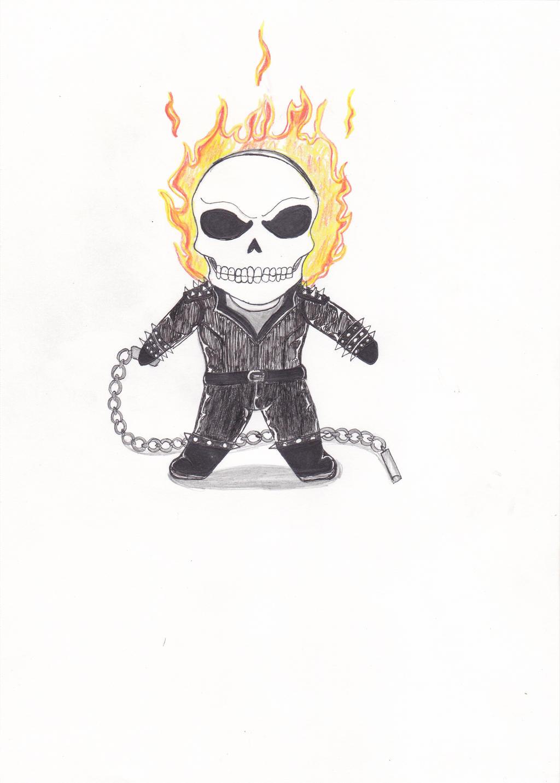 GhostRider Chibi by demolitionfoxX on DeviantArt