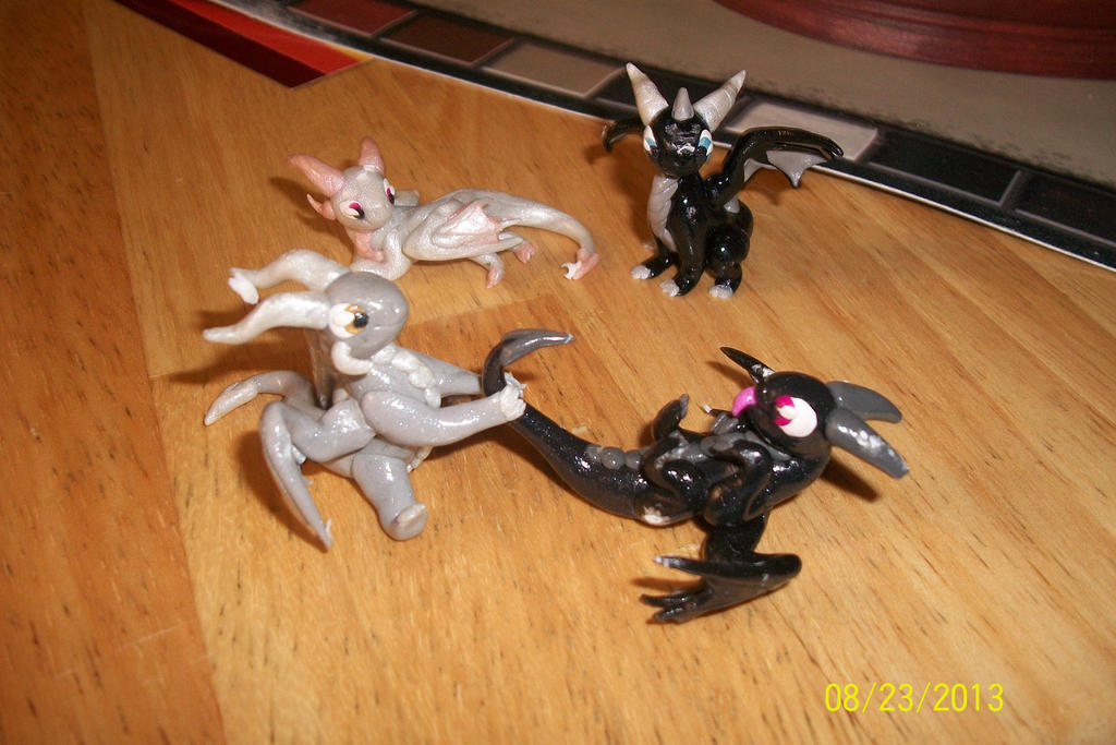 Chibi Sculptures by dragonfreak1112