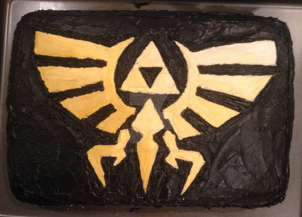 Triforce Cake By Yolandaaaaa