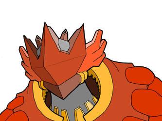 Lord Blaze Head Draft Colored