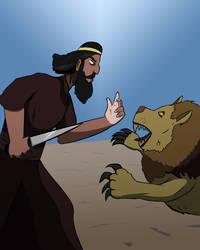 Nimrod fights a Lion by maze70