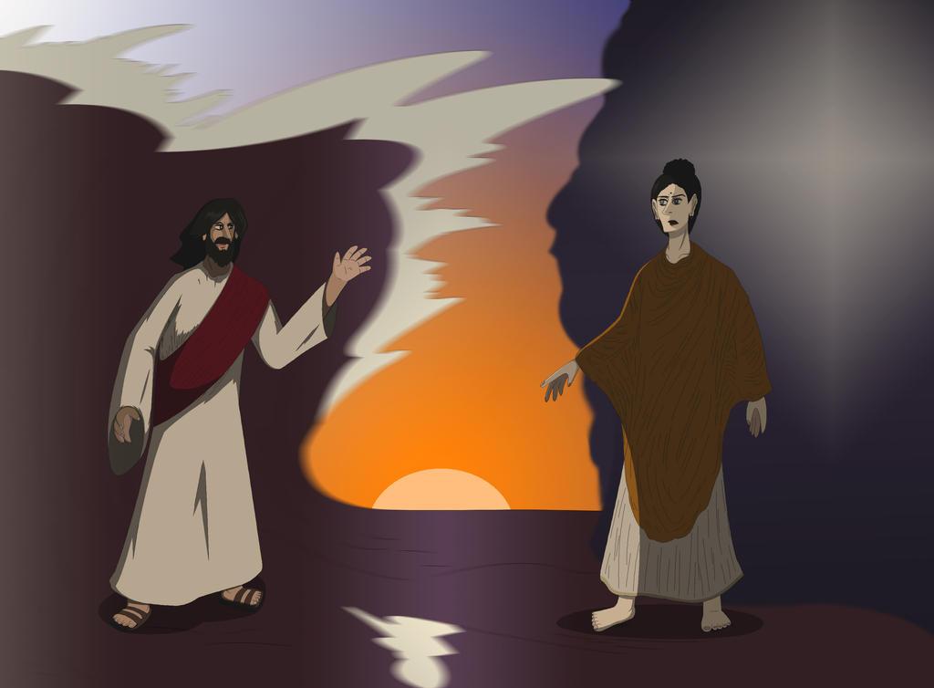 Jesus vs. Buddha by maze70