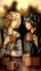 Evan(by Lollipop92/Dream) and Takeo (My OC)
