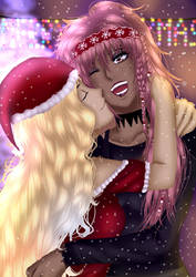 Merry Xmas-Mea and Layla (Oc by Lollipop)