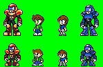 Gaialeo - Megaman styled sprites. by MM19872008