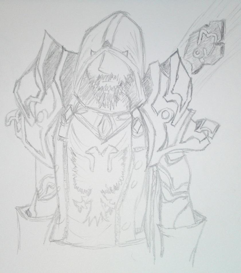 Elder Maaku (Pencil) by TheMarc1k1