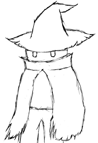 Black Mage 2015 (B/W Sketch) by TheMarc1k1