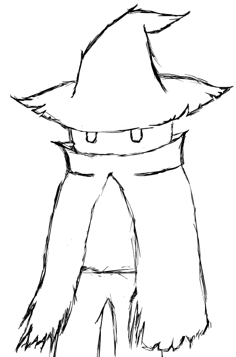 Black Mage 2015 (B and W) by TheMarc1k1