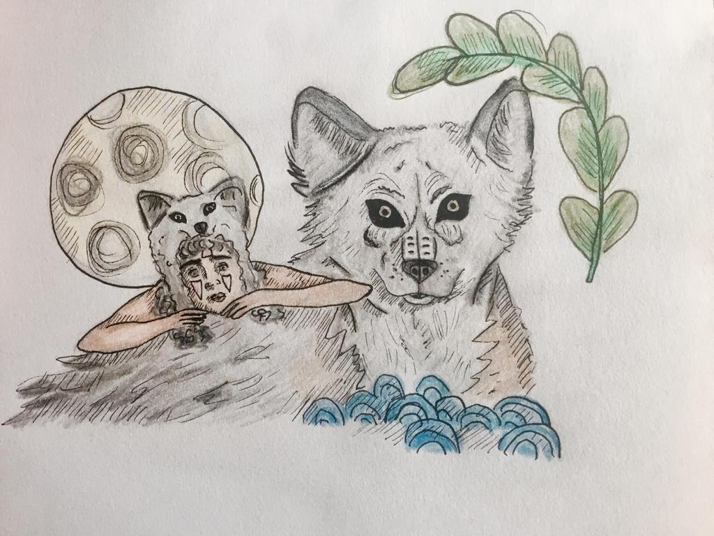 Wolf drawing by siri4321