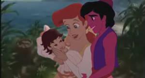 Ariel and Aladdin Happy family