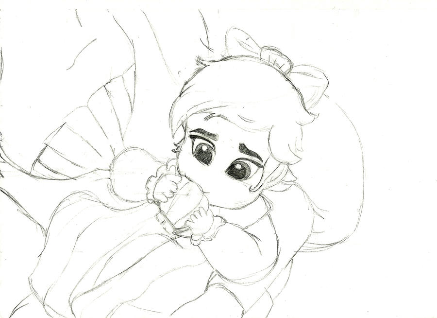 little mermaid coloring pages baby - photo#12