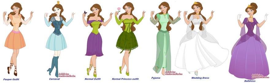 My Disney Princess Outfits By Iranaa On Deviantart