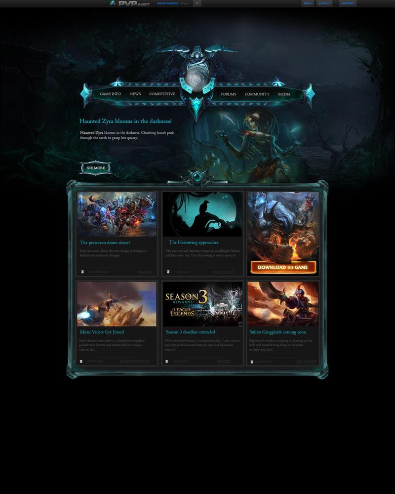 League of Legends fan made Halloween Website by SamHexo