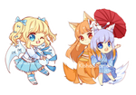 [Colored Sketch Chibi Commission Batch]