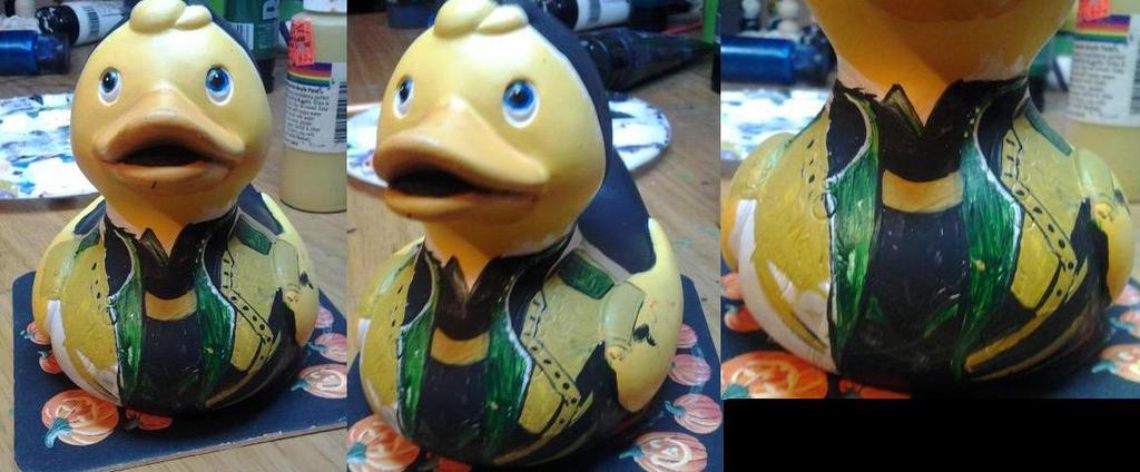Loki duck dirty paint by BlueSaltwaterTaffy