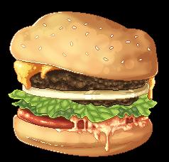 f2u Burger Pixel by Guumi-fish