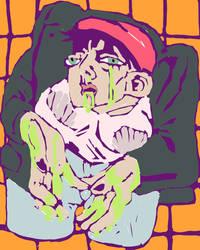 throw up and be cool by Yuki-Yukky