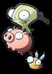 Invader Zim - Gir and Piggy