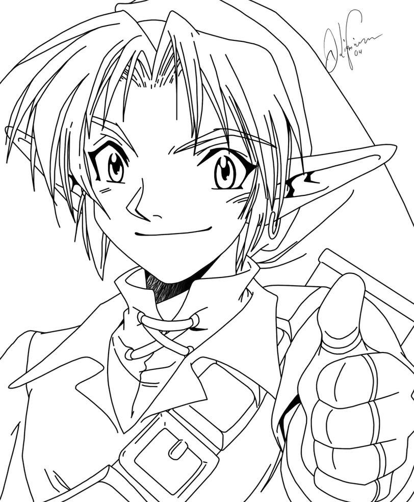Zelda Line Drawing : Legend of zelda thumbs up lines by lthot on deviantart
