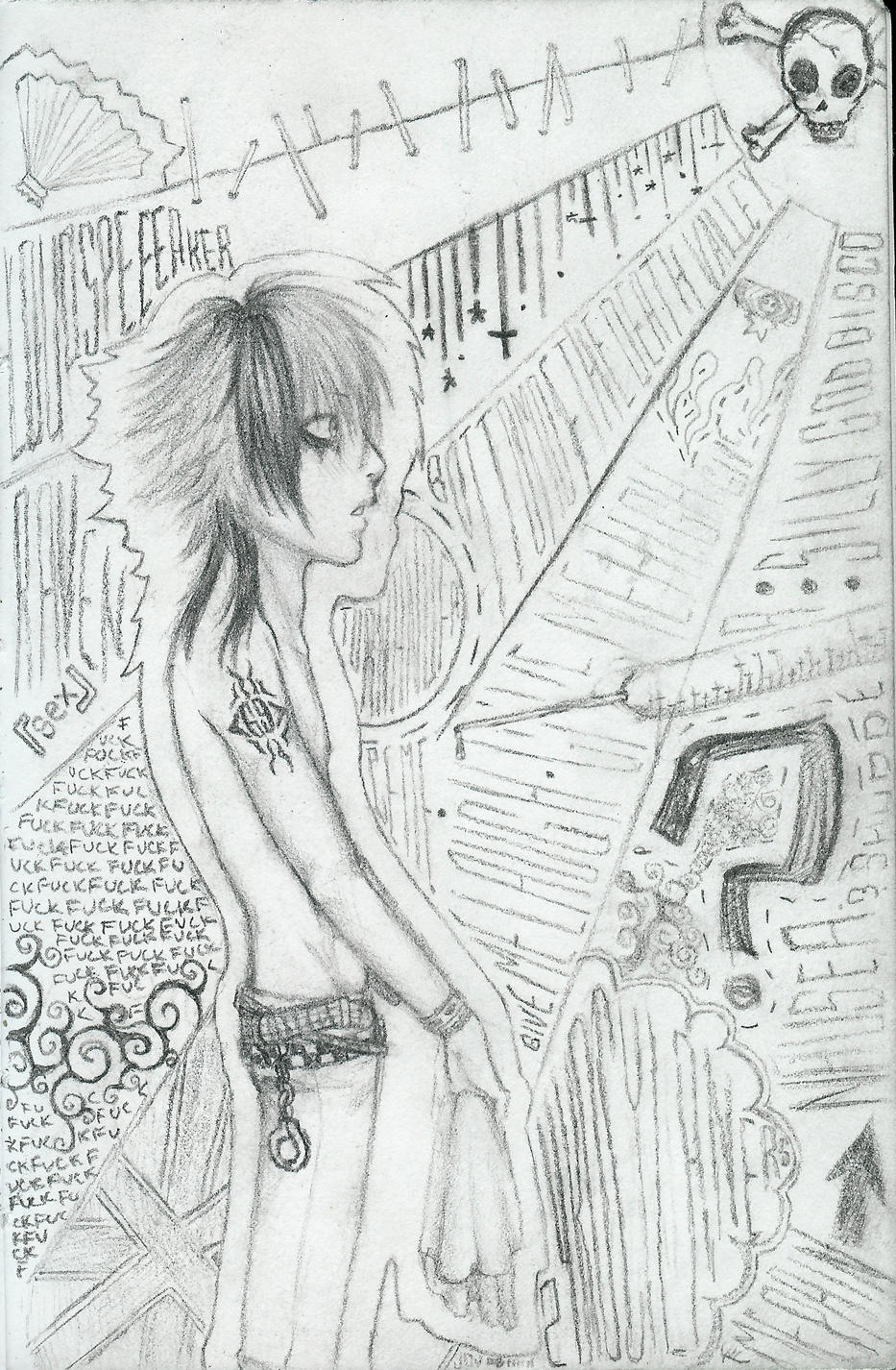 Look -Pencil- by kasumi-blue