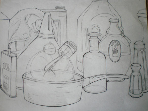 Contour Line Drawing Of Still Life : New in concept arts