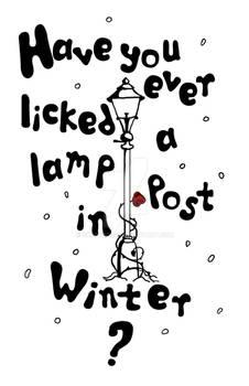 Lamppost In Winter