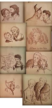 Dragon Age Inquisition sketch dump