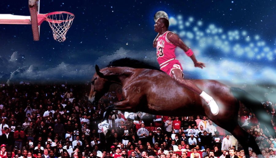 Michael Jordan Slam Dunk By Omariv