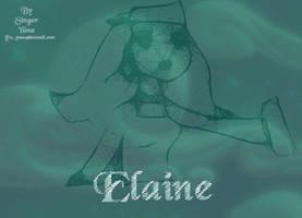 old draw of Elaine Marley by SingerYuna