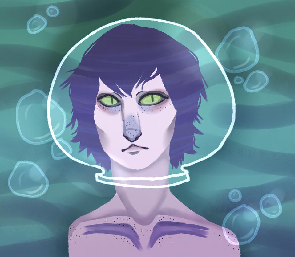 Fishbowl Alien by uglyduckbella