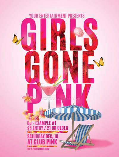 girls gone pink flyer by tmcom on deviantart