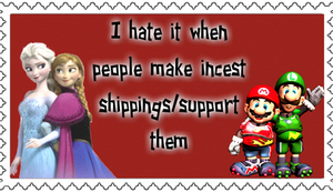 Hate incest shipping