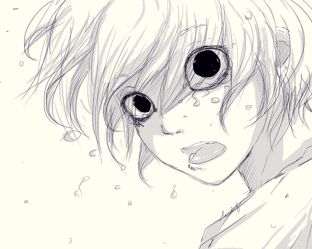 Suzuya juuzou 17 tokyo ghoul yokoyokonashi deviantart sketsa anime sad