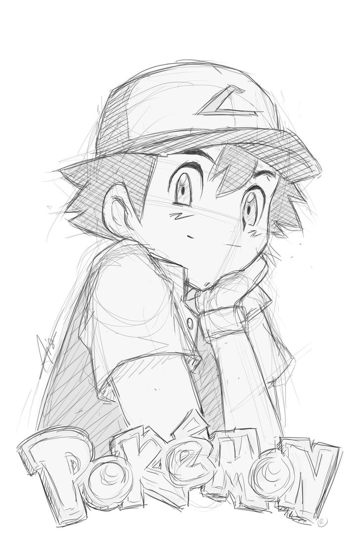 Satoshi/Ash/Sacha Sketch - Pokemon By YokoYokoNashi On DeviantArt