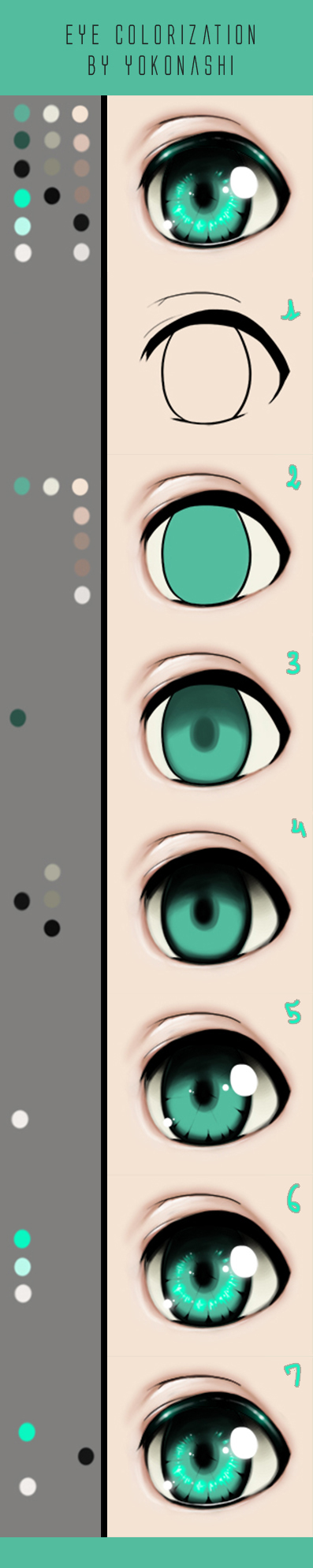 Eye colorization tutorial