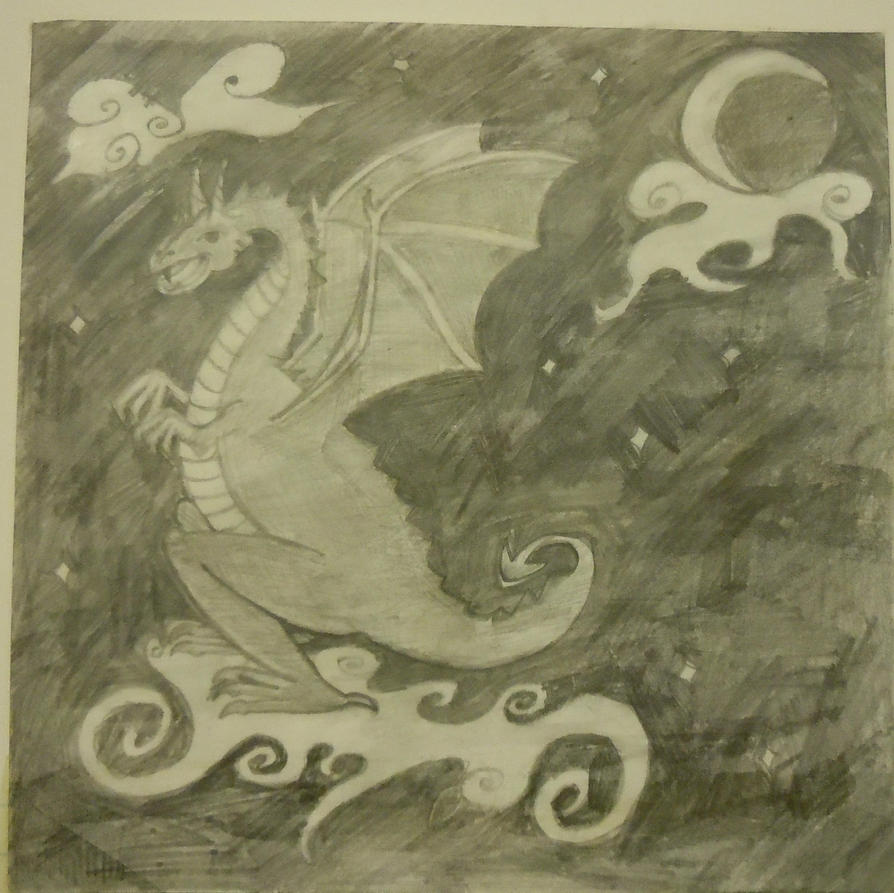 Little moon dragon by blueyay on deviantart - The moon dragon the eco tiny house ...